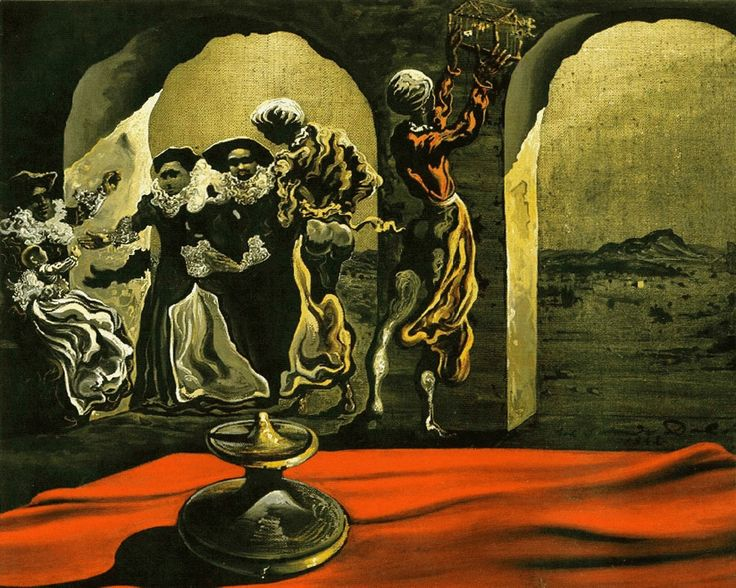 Disappearing Bust of Voltaire, 1941, Salvador Dali