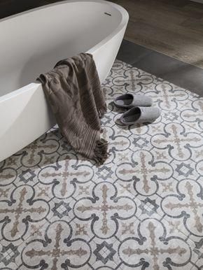Entre las novedades de Porcelanosa para Cersaie 2014 destacan los pavimentos y revestimientos cerámicos inspirados en las baldosas hidráulicas de principios del sXX