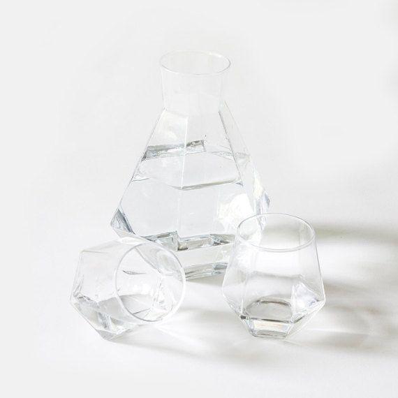RARE Puik Art Design Amsterdam Karaf Glas