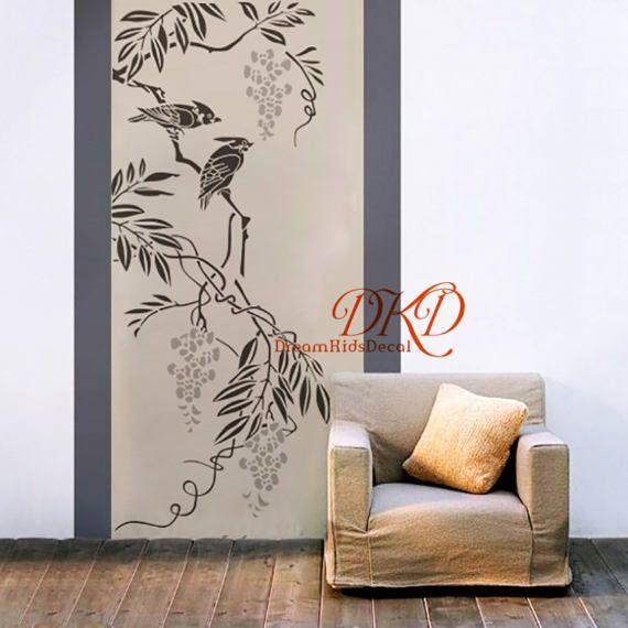 Stickers muraux chinoiserie floraison de sticker branche avec