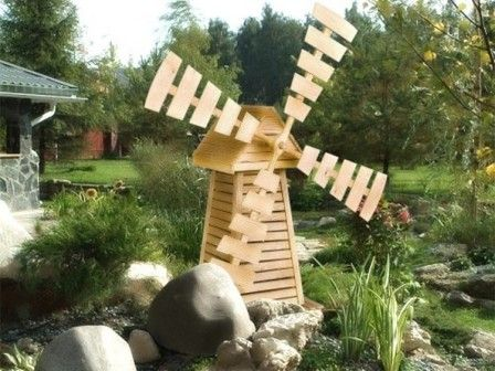 садовая ветряная мельница