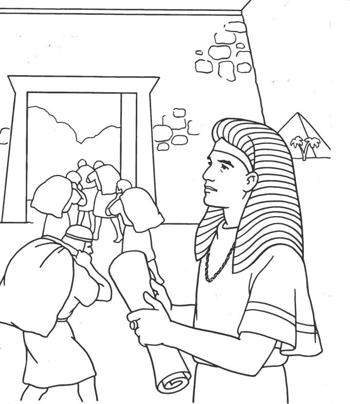 joseph pharaohs dreams coloring pages - photo#9