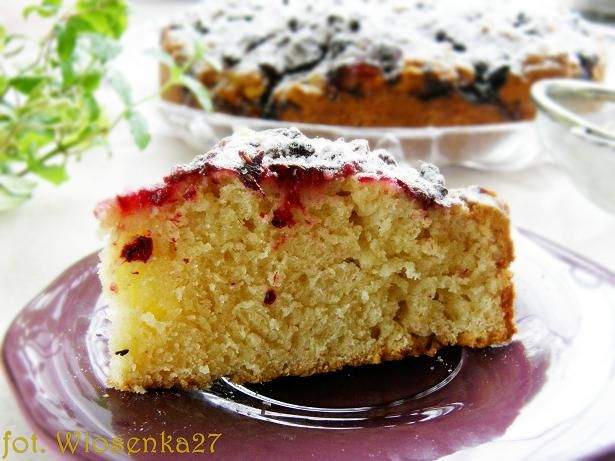 Ciasto imbirowe z malinami