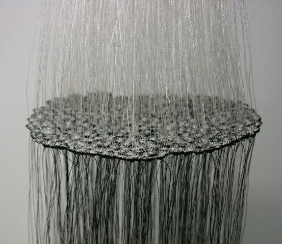 Meredith Woolnough | Hanging threads (2006) embroidery thread, dimensions variable