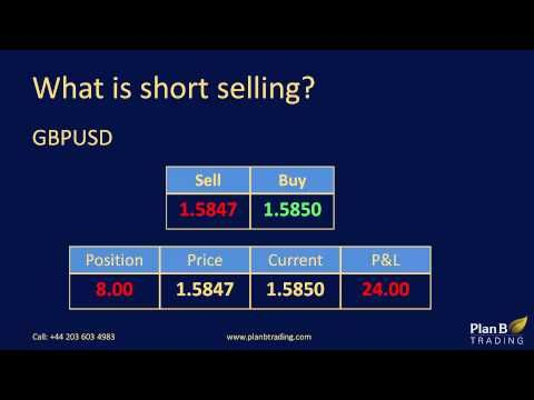 What is short selling | Forex Training Courses | Plan B Trading www.planbtrading.com