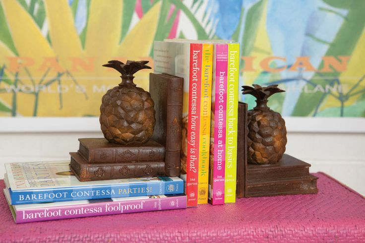 Very Tropical Bookends - The pineapple is a symbol of welcome in Barbados. http://www.alfrescoemporium.com.au/index.asp?p=store&l=4220&r=64