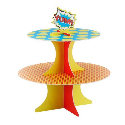 Cupcake Ständer – Pop Art Superhero