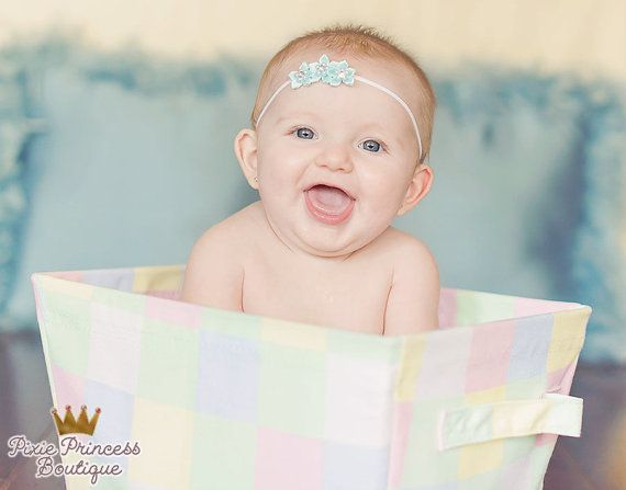 Frozen Eternity} Headband, Photography Prop, Baby Headband, Newborn Headband, Flower Headband