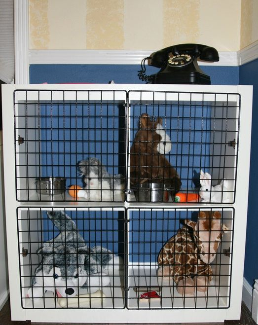 DIY:  Play Pet Kennel for kids Vet Clinic in Playroom