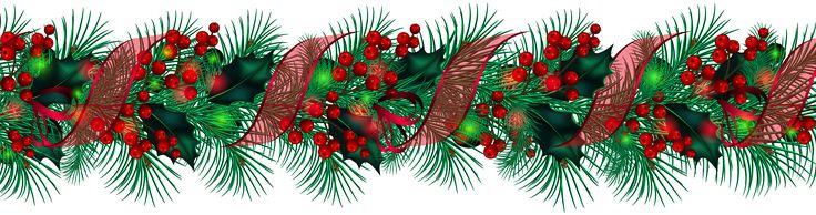 Transparent Christmas Large Garland PNG Clipart