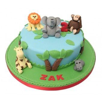 Jungle Birthday Cake 2