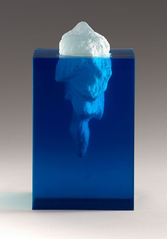 Ben Young ( we all know that the larger proportion of an iceberg lies under the water ) This artwork depicts this fact 👍