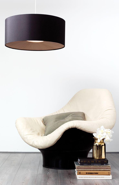 Gorgeous Pendant in Black/Chrome/Gold from Beacon Lighting