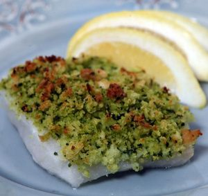Oven Baked Haddock with Herbed Crumbs - Magic Skillet