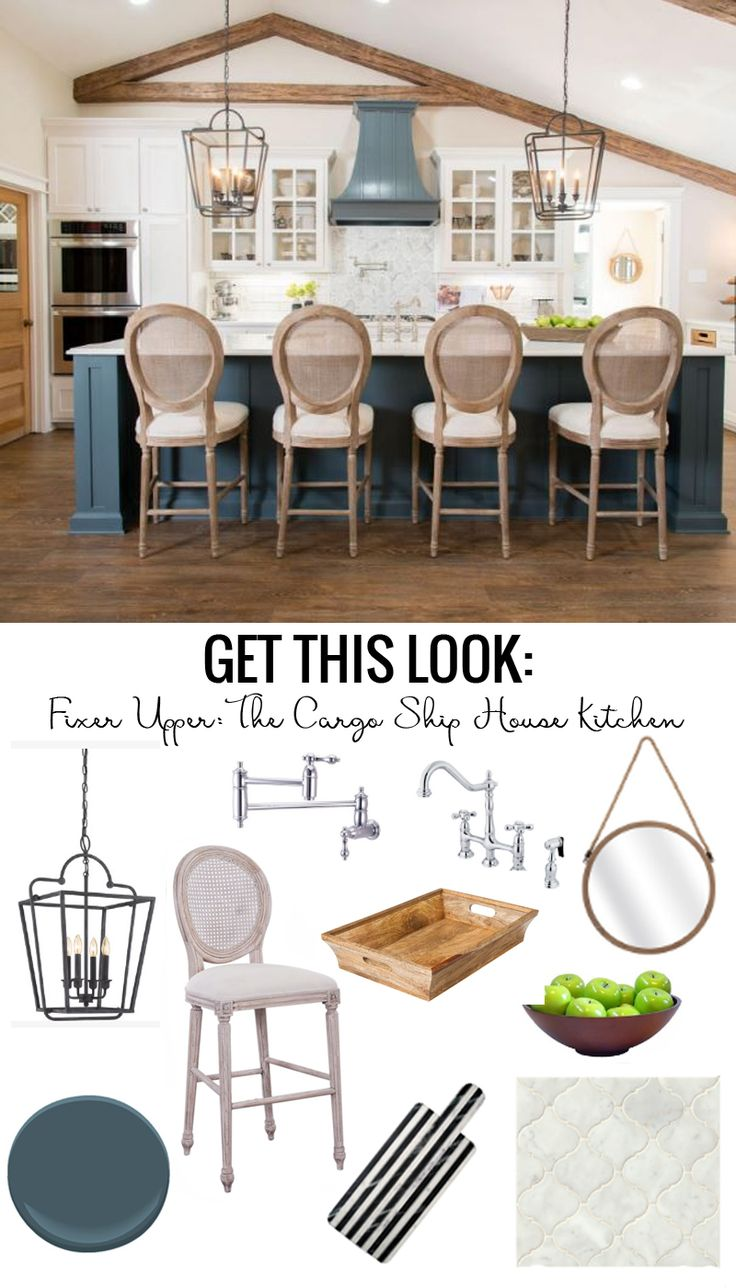 Where does fixer upper get kitchen cabinets - Get This Look The Fixer Upper Cargo Ship House Kitchen