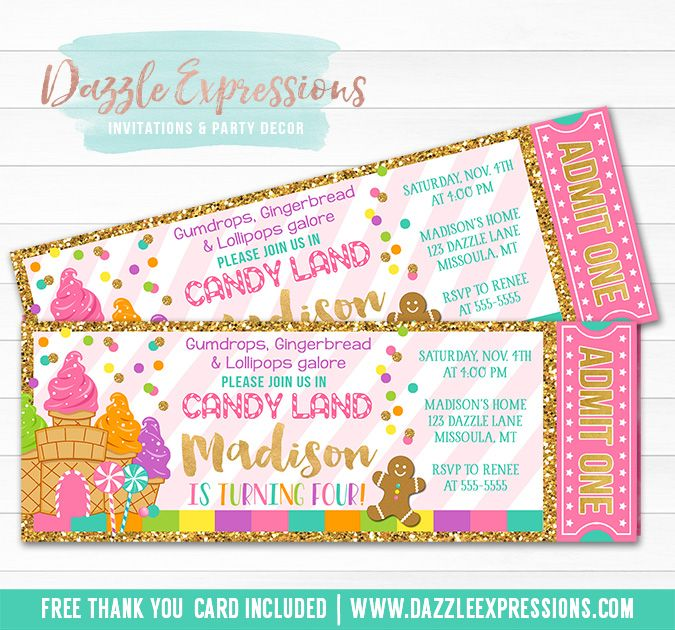 Best 25 Candy land invitations ideas – Dessert Party Invitations