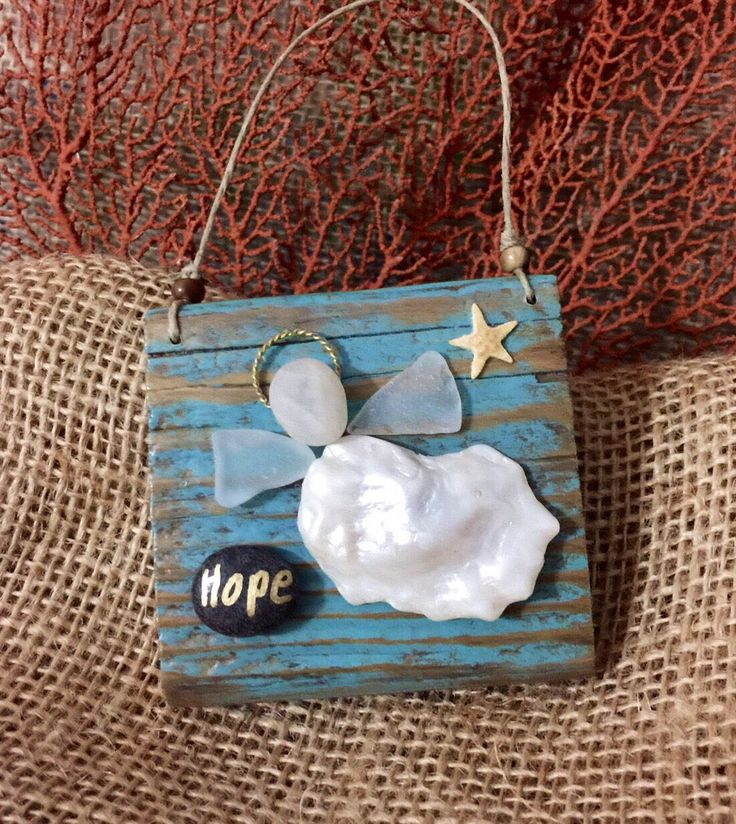 A personal favorite from my Etsy shop https://www.etsy.com/listing/509118490/hope-beachcomber-angel