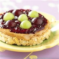 Peanut Butter and Grape Jelly Snack