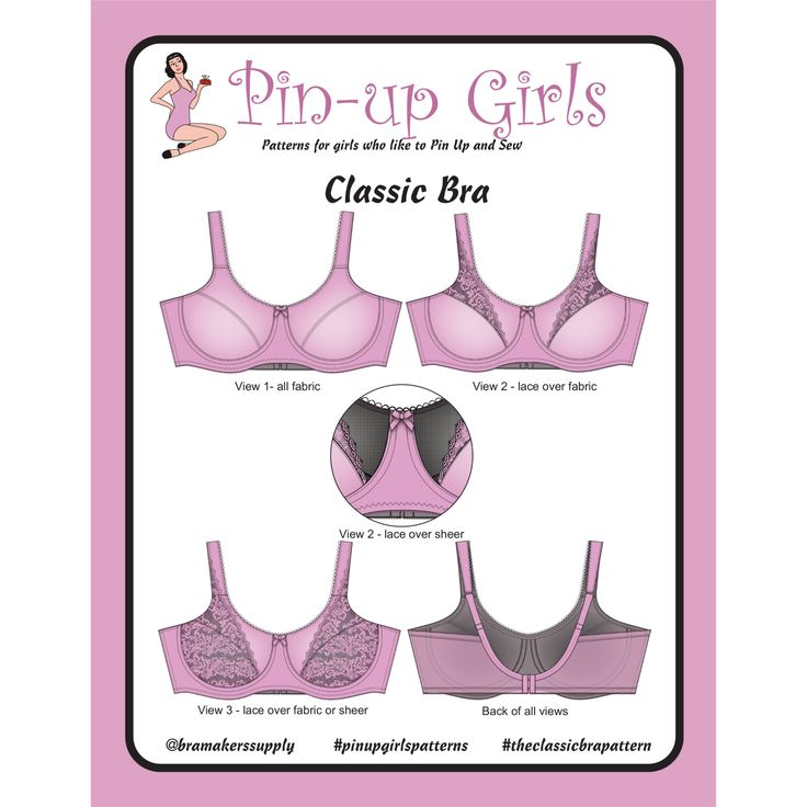 Classic Full Band Bra Pattern – Bra-Makers Supply. The Original and still the Best
