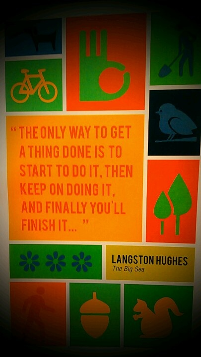 Perseverance quote by our namesake Langston Hughes. #LHPAC
