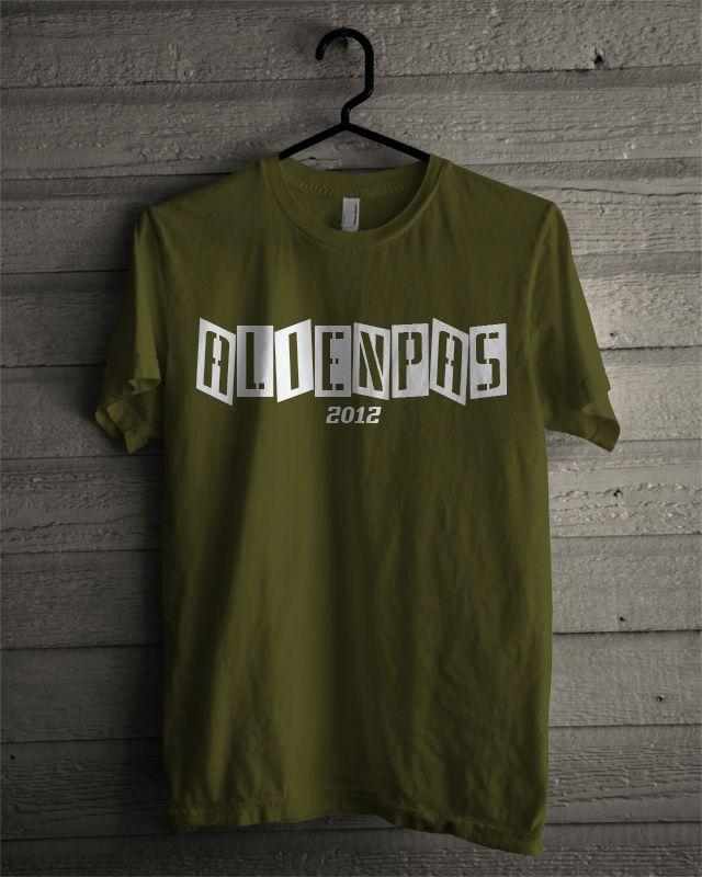 T-shirt Alienpas #5 (Army Green)