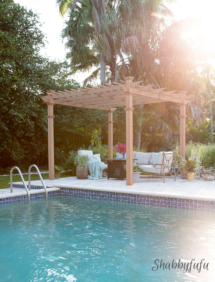 Our New Beautiful and Low Maintenance Pergola from Hayneedle. How to shop for and put a pergola together #hayneedlehome