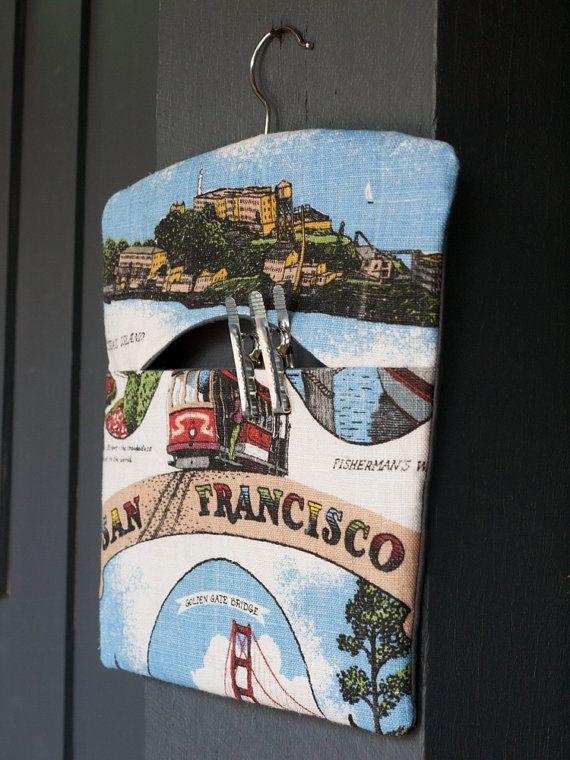 San Francisco handmade fabric peg by freshdarling on Etsy