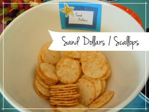 Sand Dollars - sea themed party food
