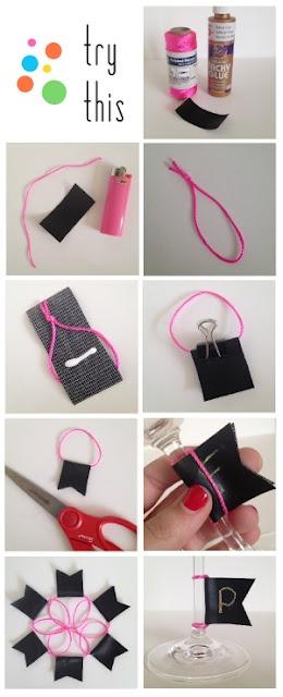 Fabric, Paper, Glue's chalk cloth wine markers tut!!
