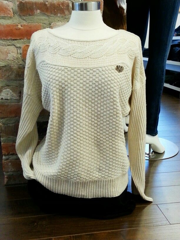 Yumi sweater with owl brooch.   One Rebellion Clothing Company