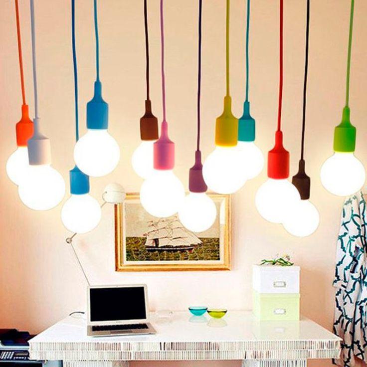 pendente, pendente colorido, pendente de silicone, pendentes, iluminação, luminárias, cores, decoração, luz,