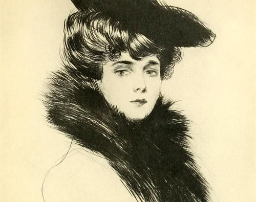 paintingispoetry:  Paul César Helleu, Madame Chéruit  detail, ca. 1900