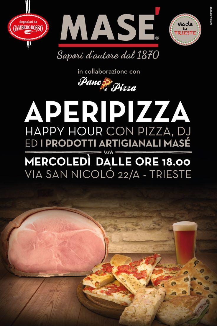 L'AperiMasè del martedì diventa #AperiPizza e si sposta al giorno dopo!  Segnatevi questa data: mercoledì 10 agosto vi aspettiamo alla solita ora, le 18, e alla solita location in via San Nicolò a #Trieste, per inaugurare la nuova serata in compagnia della golosa #pizza con il #CottoMase e non solo! #savethedate   #aperitivo #mercoledì #party #estate #festeggiaconmasè