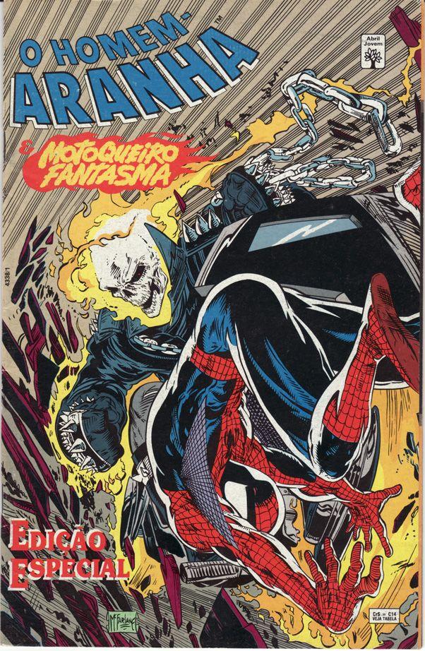 O Homem-Aranha e Motoqueiro Fantasma versus Duende Macabro . Todd McFarlane - Edição Especial (Marvel) . Abril Jovem