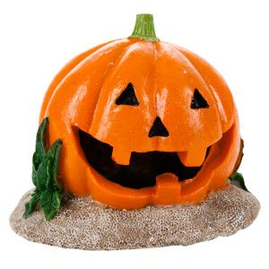 Top fin pumkin halloween aquarium ornament ornaments for Halloween fish tank decorations