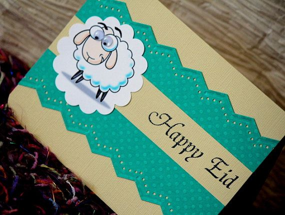 Happy Eid Sheep gift card/Money holder card for Eid by NoahScraps, $4.50