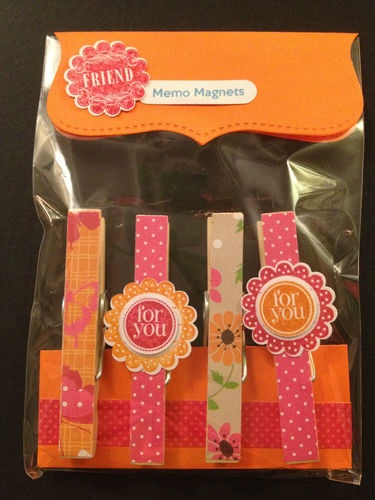 Fridge Memo Magnets - Stampin' Up! Stamped Punch Decoration | eBay