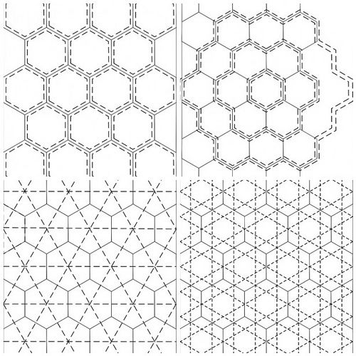 Quilting ideas for hexagons