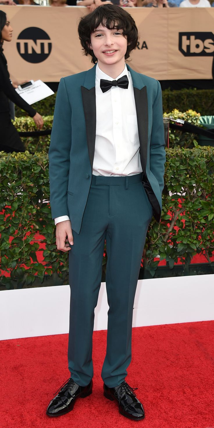 See All the Celebrity Looks from the 2017 SAG Awards Red Carpet - Finn Wolfhard from InStyle.com