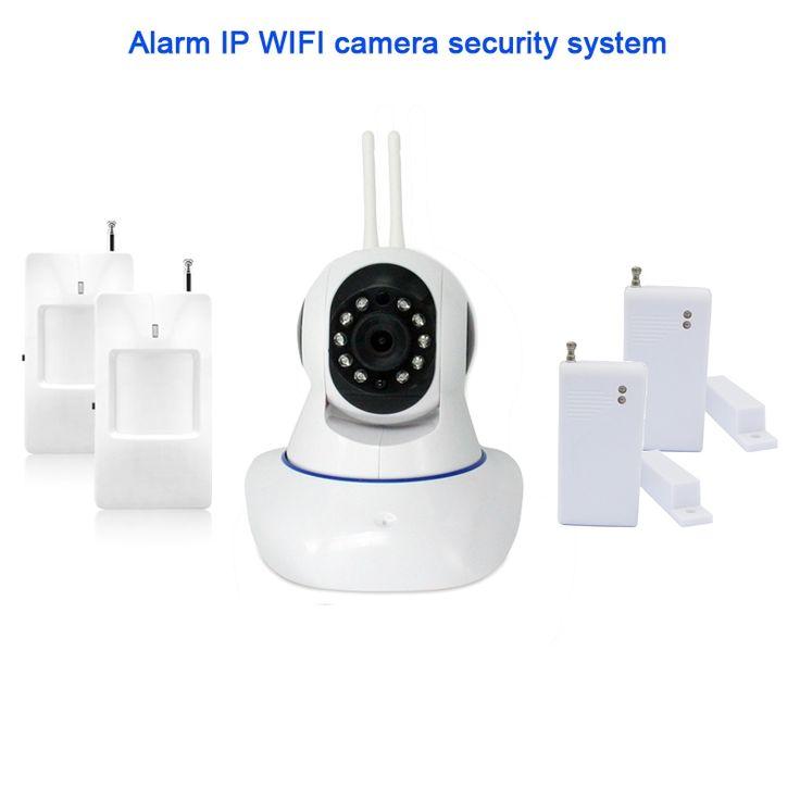 41.99$  Watch now - http://alin4x.shopchina.info/go.php?t=32806655682 - 720P HD WiFi IP Camera HD 1MP CCTV IP CMOS security camera Alarm system For wifi and  alarm system Android APP control  #magazineonlinebeautiful