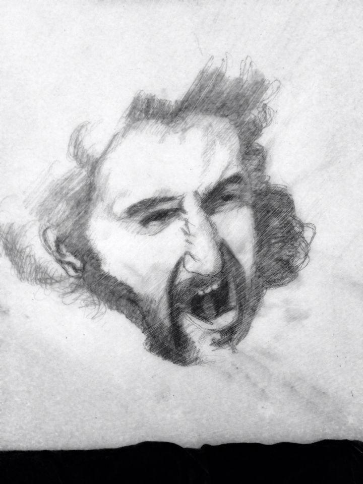 Immagina Ariosto...rimase al fin con gli occhi e con la mente fisso nel sasso,al sasso indifferente