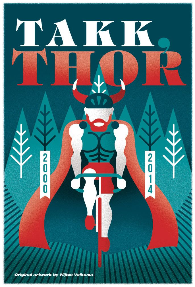 Hommage poster celebrating #ThorHushovd's career! reprints at info@bamseontwerpt.nl