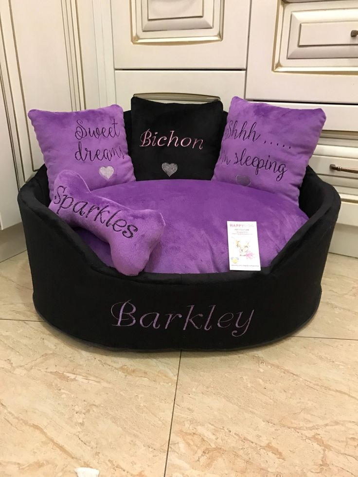 A personal favorite from my Etsy shop https://www.etsy.com/listing/567732172/violet-and-black-princess-dog-bed
