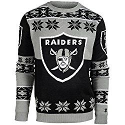 Klew Ugly Sweater OAKLAND RAIDERS, X-Large