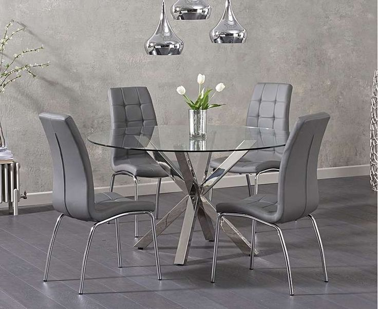 Table A Manger Ronde En Verre In 2020 Glass Round Dining Table