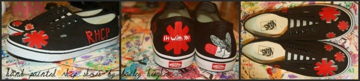 RHCP Vans! My feet are now ready for the RHCP concerts coming up this month(: (painted by Bailey Hughes)