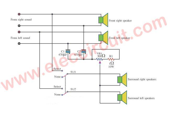 Surround Sound System Circuit Diagram | ElecCircuit.com | Surround sound  systems, Surround sound, Electronic circuit projectsPinterest
