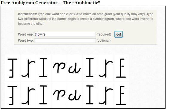 Ambigram Tattoos : Ambigram Maker & Ambigram Generator