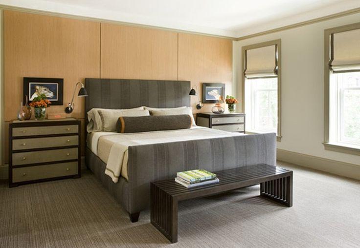 quarto masculino simples de solteiro aconchegante
