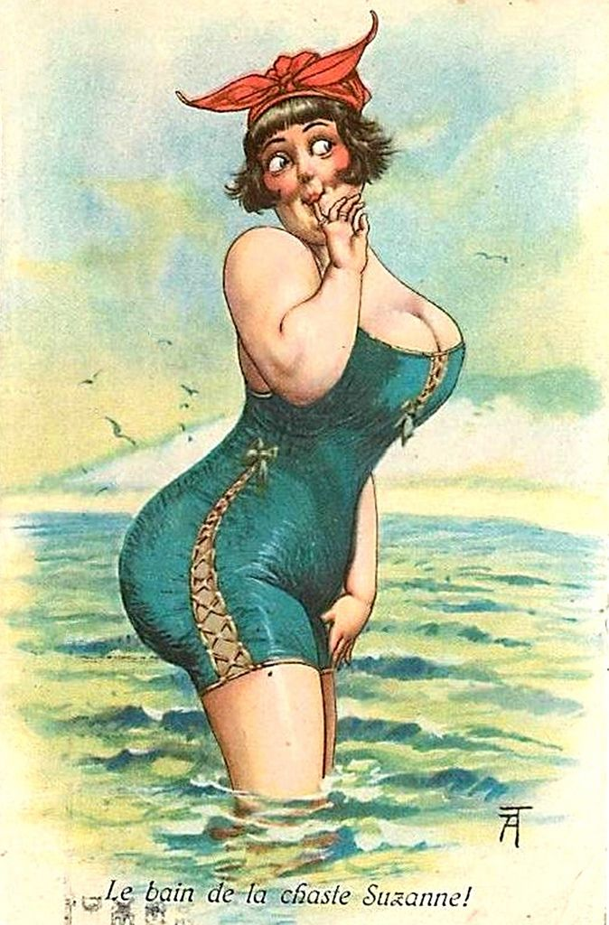 thiele dikke dame in zee
